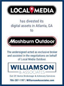 Local Media divests Atlanta Outdoor Advertising assets to Mashburn Outdoor