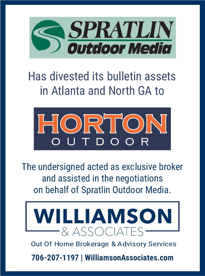 spratlin outdoor media divests outdoor assets to Horton Outdoor