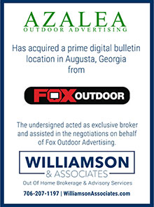 Azalea outdoor advertising acquired a Augusta digital location from Fox Outdoor