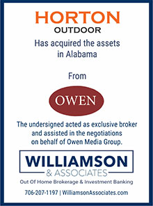 horton outdoor acquired the assets in AL from owen
