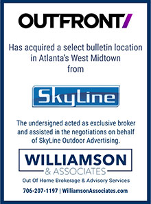 Outfront acquired a bulletin location in Atlanta's west midtown from Skyline
