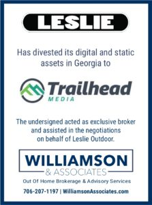 Leslie Outdoor divests out of home advertising assets to trailhead media