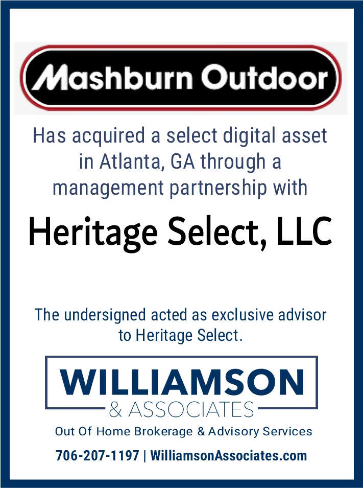 Mashburn Outdoor management partnership acquistion of Heritage Select