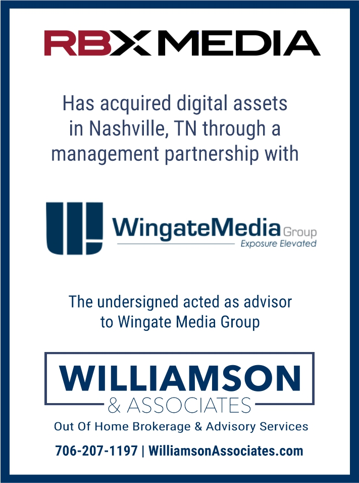 RBX Media aquired digital assets from Wingate Media