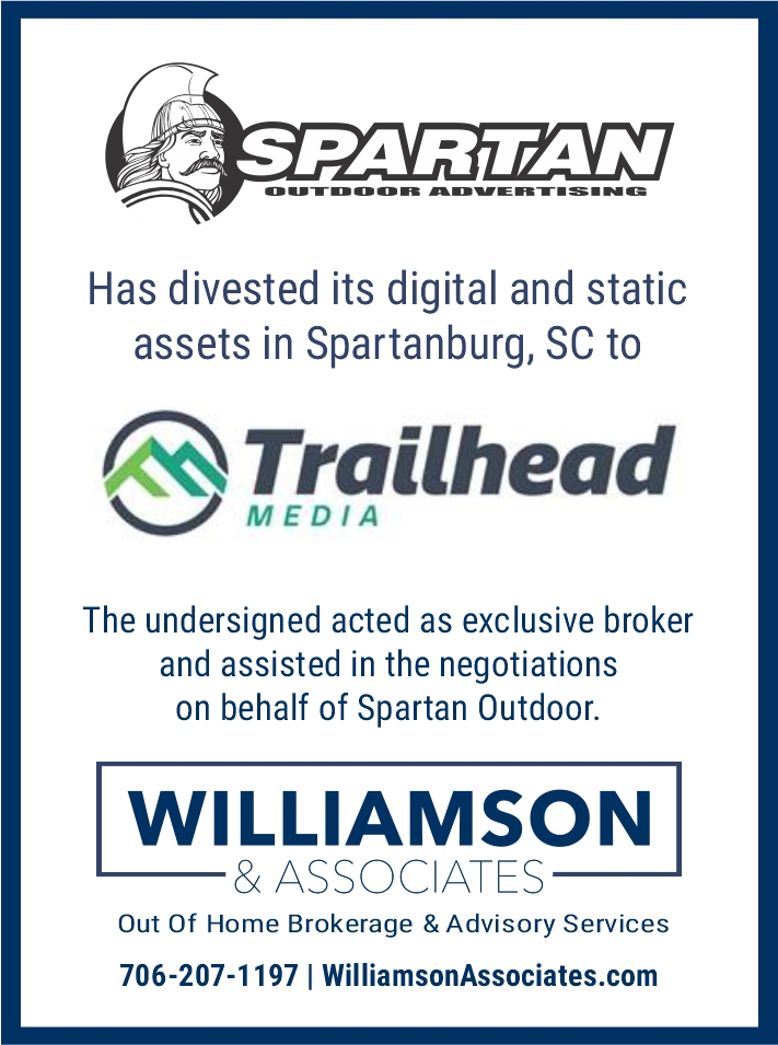 spartan outdoor divests out of home advertising assets to trailhead media